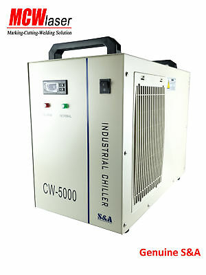 S&A Genuine CW-5000 Water Chiller Cool 80W 150W CO2 Laser Tube Spindle