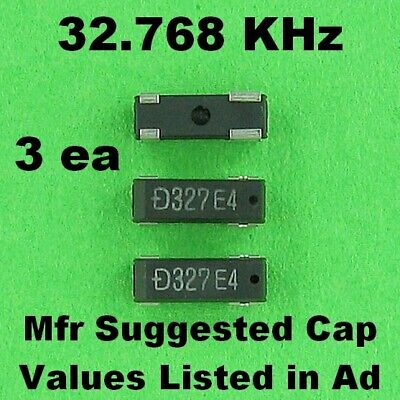 32.768 KHz Crystal Oscillator SMD Flat PAK, Capacitor Values Listed in Ad NEW