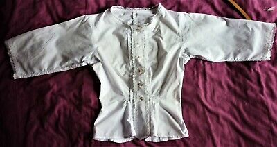 Antique 1900 Camisole Blouse Top French Victorian White Cotton