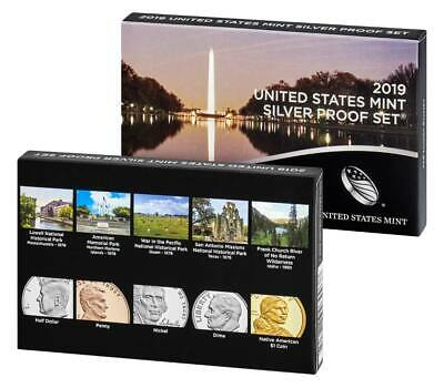 2019-SW 10-Coin Silver Proof Set (19RH) No Extra W Penny