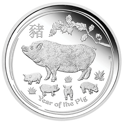 2019 Year of the Pig Australian Lunar 1oz Silver Proof Coin