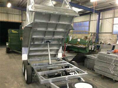 9x5 Tandem Tipper Trailer Galvanised Hydraulic with 1000mm Cage