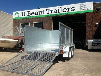 10x5 Tandem Lawn Mower Trailer  Galvanised