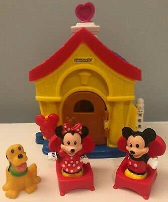 5pcs Fisher Price Little People MAGIC of DISNEY MICKEY MOUSE HOUSE FIGURES LOT