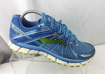 7e00a893fcb Brooks Adrenaline GTS 17 Women s Shoes Azure Blue Lime 1202311B464 Sz 9.5 M