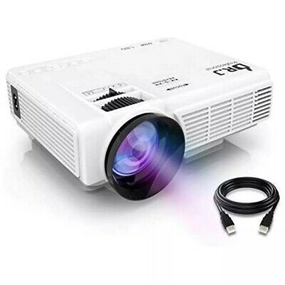 """DR. J Professional HI-04 1080P Supported 4Inch Mini Projector with 170"""" Display"""