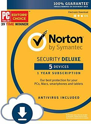 Norton Security Deluxe 5 Devices 1 Year Subscription Instant Download  2019