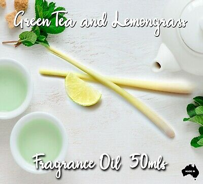 Green Tea And Lemongrass Top Quality Fragrance Oil, 50 Mls - Candles, Melts