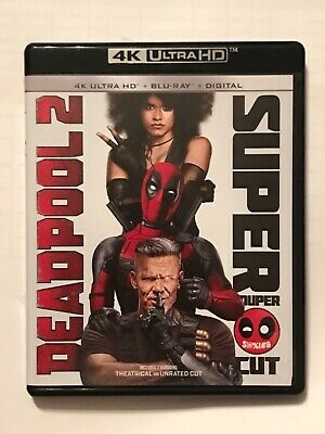 Deadpool 2 4K Theatrical + Super Duper Cut UHD Discs (No Blu-Ray/No Digital HD)