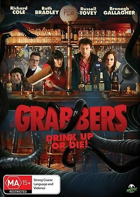 Grabbers (DVD, 2013) // Ex-Rental // No Cover // Disc & Case only