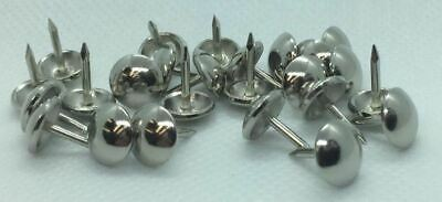 UPHOLSTERY PINS TACKS NAILS DECORATIVE SOFA CRAFT STUDS CHROME PLATED QTY 500