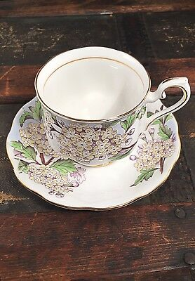 Royal Albert Tea Cup Bone China England Flower of the Month Series Hand Painted!