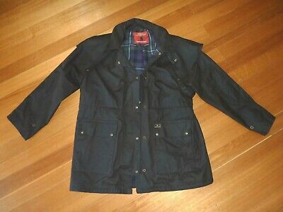 THOMAS COOK High Country Oilskin Professional 3/4 Jacket / Coat - Size L - Brown