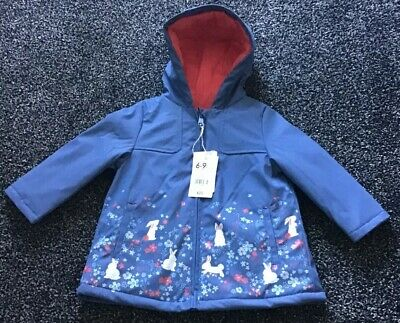 Mothercare Baby Girls Bunny Rabbit Coat Jacket Rubber 6-9 Months Spring Easter
