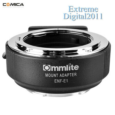 Commlite CM-ENF-E1 PRO AF Adapter For Nikon F Lens To Sony A9 A7M3 A7R2 Camera