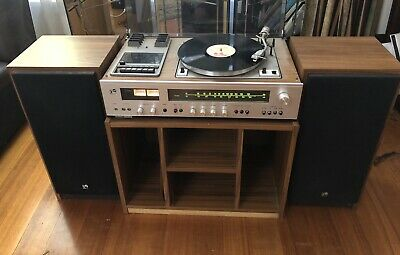 Rank Arena RA306 Music Centre Japan Record Player Cassette Tape AM/FM Stereo