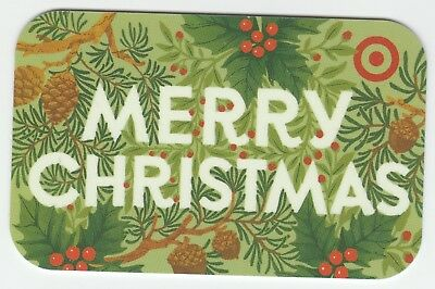 Target no value collectible gift card mint #60 Merry Christmas