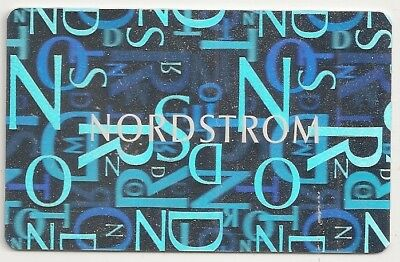 Nordstrom No Value Collectible Gift Card Mint 05 Silver Background White Logo