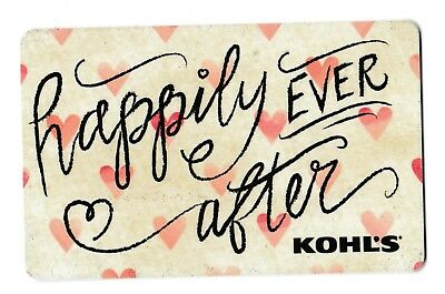 Kohl's gift card no value mint #05 happily ever after