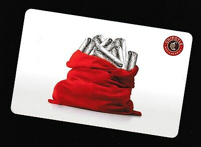 Chipotle no value collectible gift card mint #31 Red Bag of Burritos