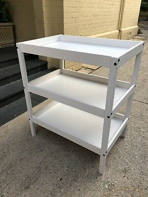 Ikea Change Table - White Timber Frame. Pick Up 3122