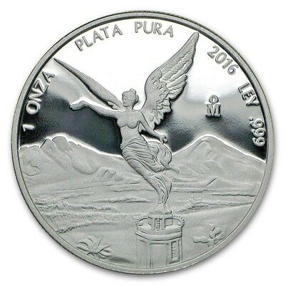 2016 Mexico Libertad 1 oz .999 Silver Round Coin BU,  EDITION ONLY 8.650 pcs