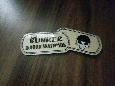 Sticker Decal The Bunker Indoor Skatepark Unused