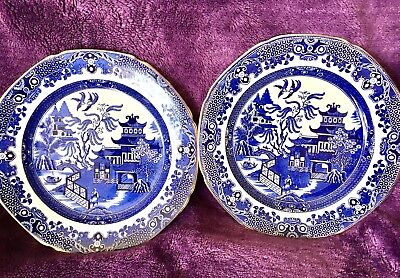 Art Deco Era 'Willow' Vintage Art Deco Burleigh Ware 2 Xtea/Side Plates,Exc Cond
