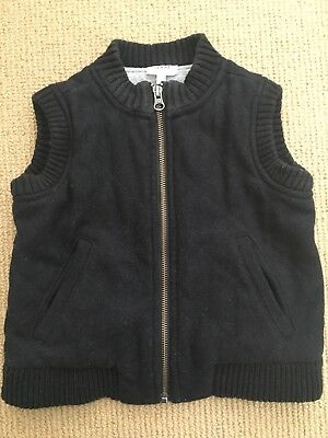 Seed Heritage Navy Cotton Thick Padded Vest - Size 2-3 -EUC