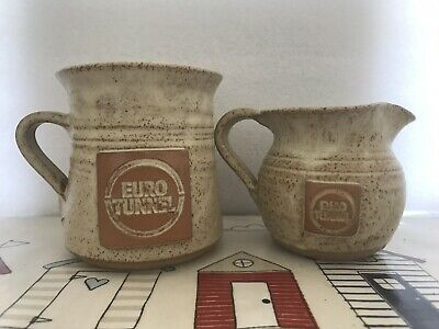 Channel / Euro Tunnel Gault Clay Mug And Jug
