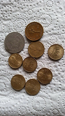 Vintage Indonesia and Malaysia coins