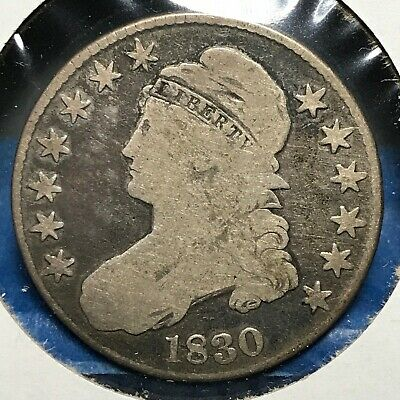 1830 50C Capped Bust Half Dollar (48934)
