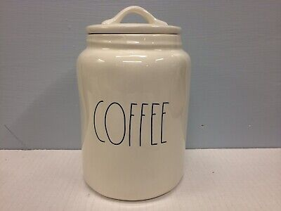 New Rae Dunn COFFEE Canister LL Large Letter Farmhouse Artisan Collection