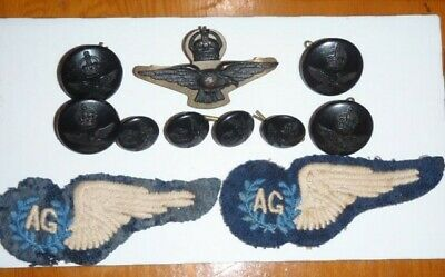 Australian ww2 air gunner patch's, buttons and wings badge