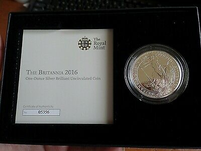 Royal Mint Britannia 2016 One-Ounce Fine Silver Brilliant Uncirculated