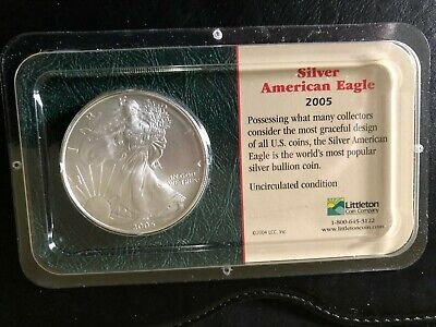2005 Silver American Eagle Uncirculated in LIttleton Holder