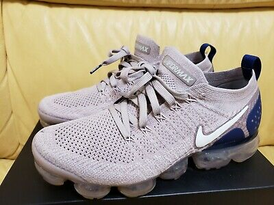 Nike Air Vapormax Flyknit 2 - Diffused Taupe/Blue Void/Sepia Stone (mens 8.5)