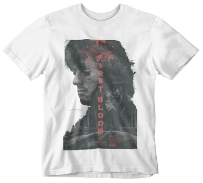 first blood T-shirt Rambo Sly Movie poster retro 80s 90s yolo tumblr action hero