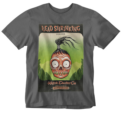 Beetlejuice T-Shirt Head Shrinking Powder tee movie retro witch doctor 80s 90s