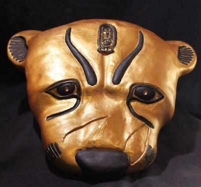 TUTANKHAMUN'S GOLDEN LEOPARD Ritual Death Mask of Shem Priest museum replica
