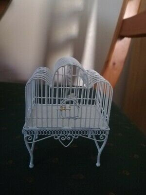 1/12th dolls house  bird cage with bird