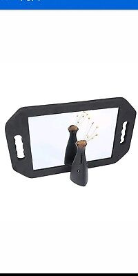 3 x Double Handed FOAM PADDED Barbers Back Mirror For Hairdressing Salon