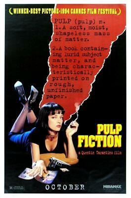 Vintage Pulp Fiction Poster//Classic Movie Poster//Movie Poster//Poster Reprint/