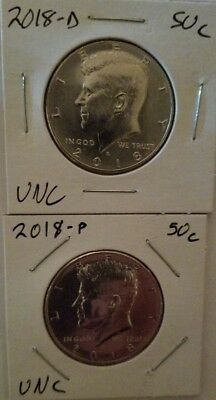 2018 P D Frosty Cameo Kennedy Two (2) Coin Set (Bu) Uncirculated