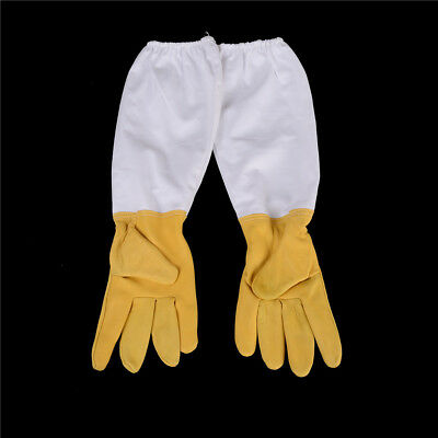 Goatskin Protective Bee Keeping Vented Long Sleeves Beekeeping Gloves  LZ