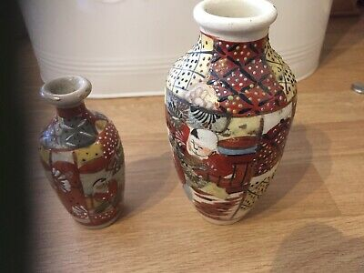 Two Miniature Satsuma Jars/urns
