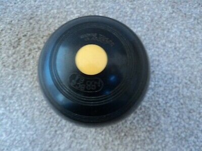 Black Thomas Taylor Crown Green Bowls Ex Match Jack 2 Fll Bias