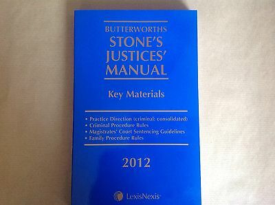 Butterworths Stones Justices Manual Key Materials 2012 Law Book - Lexis Nexis