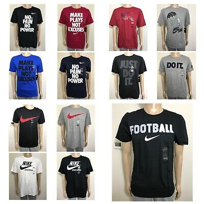 2033ff38 NIKE TEE NO Pain No Power T-Shirt Size Large NWT White Graphic ...
