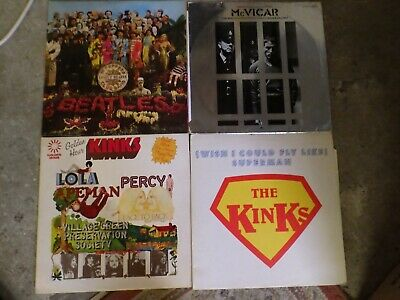 Vinyl Record job lot, 24 LPS, Rock, Pop, Beatles, Kinks, Quo, 60s 70s
